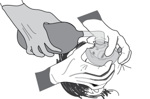 Using both your hand to seal a mask is very efficient in long difficult ventilations. You must communicate carefully with the assistant squeezing the bag to ensure good ventilation.