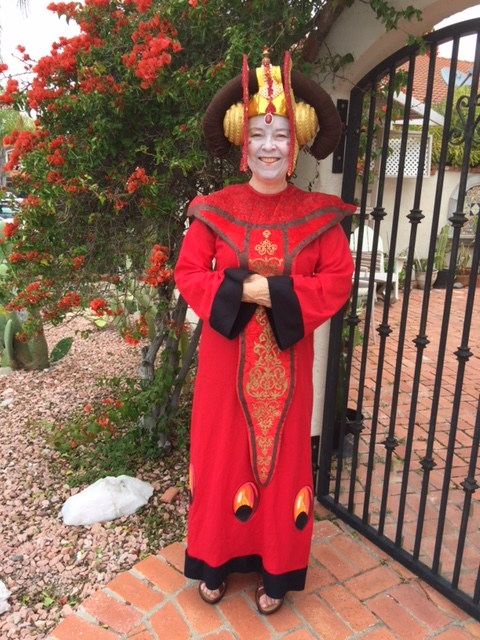 Photo of Dr. Chris Whitten dressed as Queen Amidala